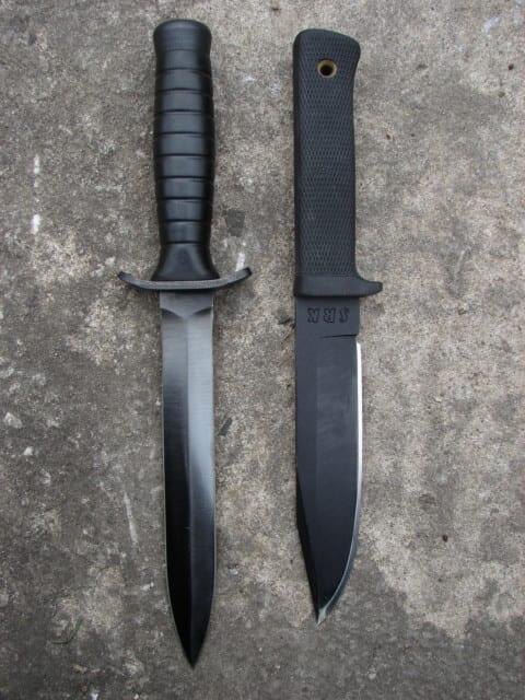 Porównanie Cold Steel SRK i typowego noża bojowego