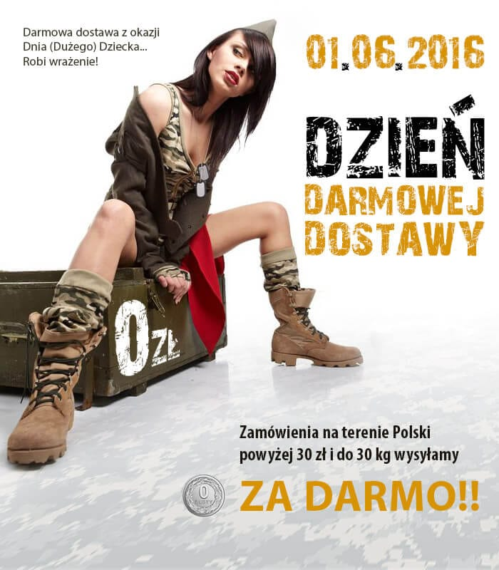 Dzień darmowej dostawy w Militaria.pl!