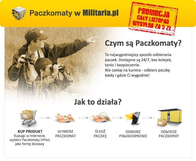 Dostawa do Paczkomatu tylko 5 złotych!