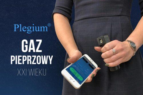 gaz pieprzowy Plegium połączony z aplikacją